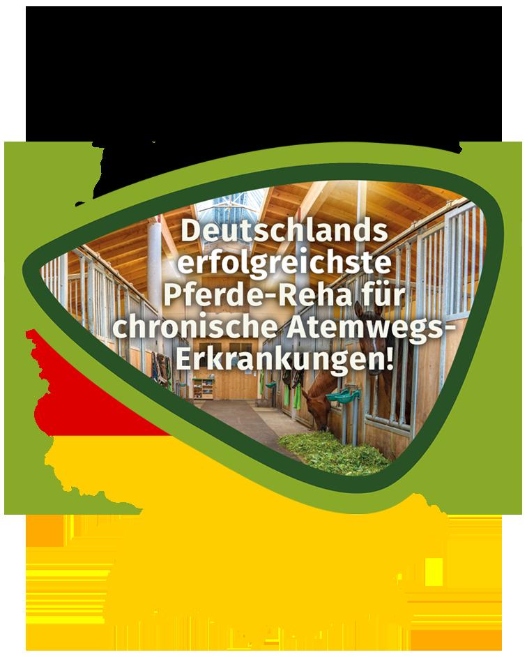 Pferde-Reha-Huttenried - Deutschlands erfolgreichste Pferde-Reha für chronische Atemwegserkrankungen wie z.B. COB, COPD, ISL